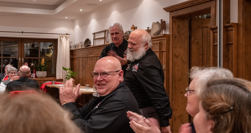 At dinner, recognition for Santa Claus