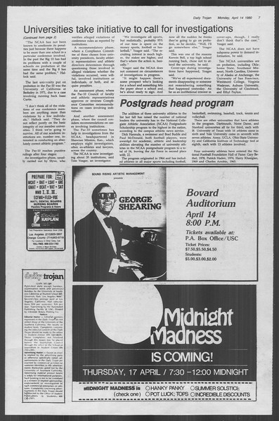 Daily Trojan, Vol. 88, No. 43, April 14, 1980