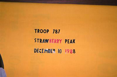 12/10/1988 - Strawberry Peak Hike