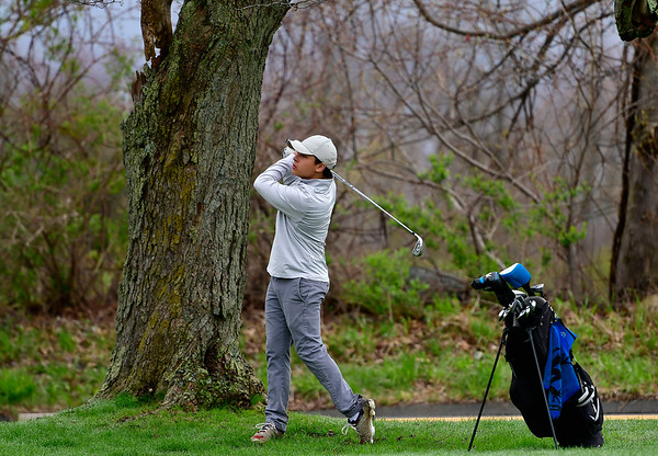 4/30/2019 Mike Orazzi | Staff Bristol Central's Adam Ward during Tuesday's match with Bristol Eastern at Chippanee Golf Club.