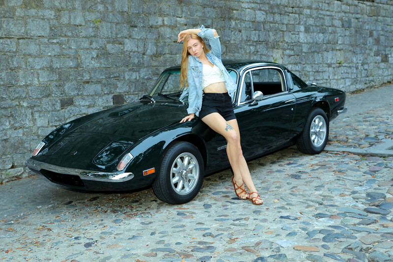 "Cassandra and my Lotus Elan ""Elizabeth"""