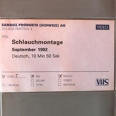 Sandoz Schlauchmontage 1982 Bau 939