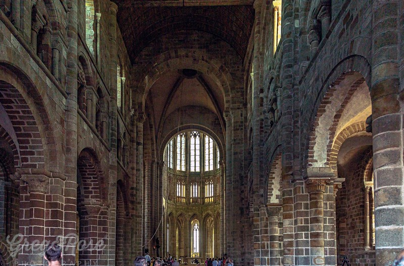 Interior of the Abbey of Mont Saint Michel