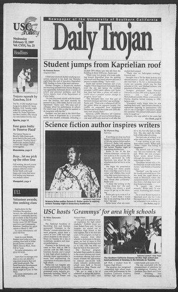 Daily Trojan, Vol. 130, No. 23, February 12, 1997