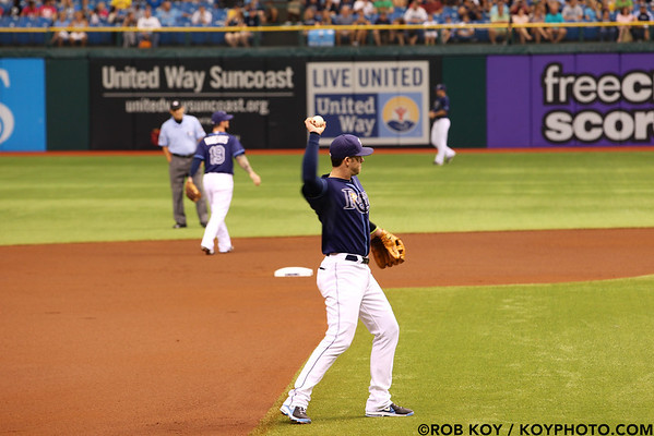 RAYS VS A'S  8/25/12