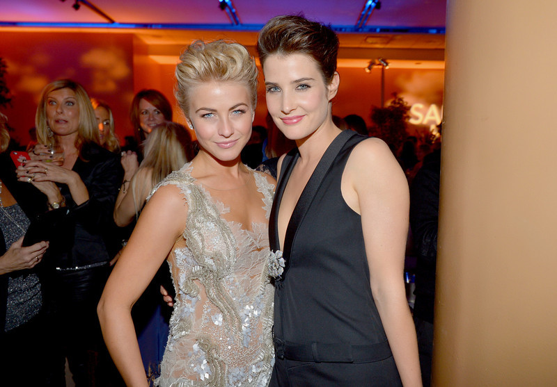 """. Actresses Julianne Hough (L) and Cobie Smulders attend the premiere of Relativity Media\'s \""""Safe Haven\"""" after party at The Terrace At Hollywood & Highland on February 5, 2013 in Hollywood, California.  (Photo by Alberto E. Rodriguez/Getty Images for Relativity Media)"""