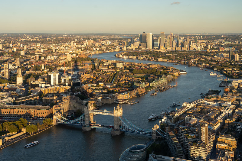 View of the Thames from The Shard