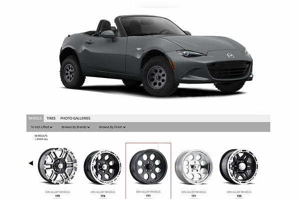 Mazda Miata (Off Road) studies