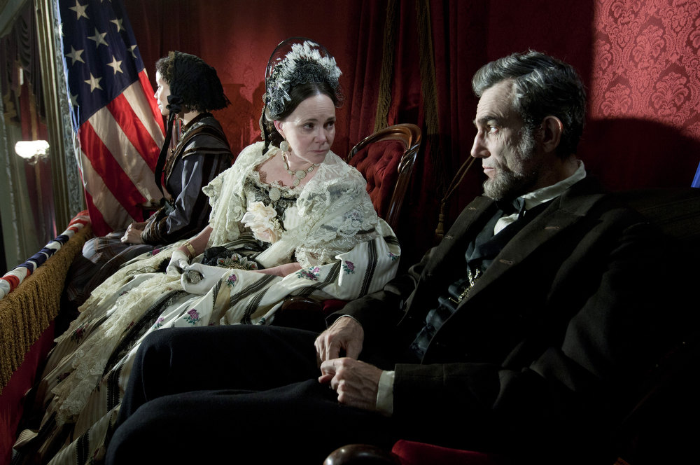 ". This image released by DreamWorks II Distribution Co., LLC and Twentieth Century Fox Film Corporation shows Sally Field and Daniel Day-Lewis appear in a scene from ""Lincoln.\""  Field was nominated Thursday, Dec. 13, 2012 for a Golden Globe for best supporting actress for her role in the film. The 70th annual Golden Globe Awards will be held on Jan. 13. (AP Photo/DreamWorks II Distribution Co., LLC and Twentieth Century Fox Film Corporation, David James)"