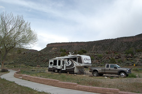 Journal Site 97:  Rio Bravo Campground, Orilla Verde Recreation Area, Pilar, NM - May 13, 2008