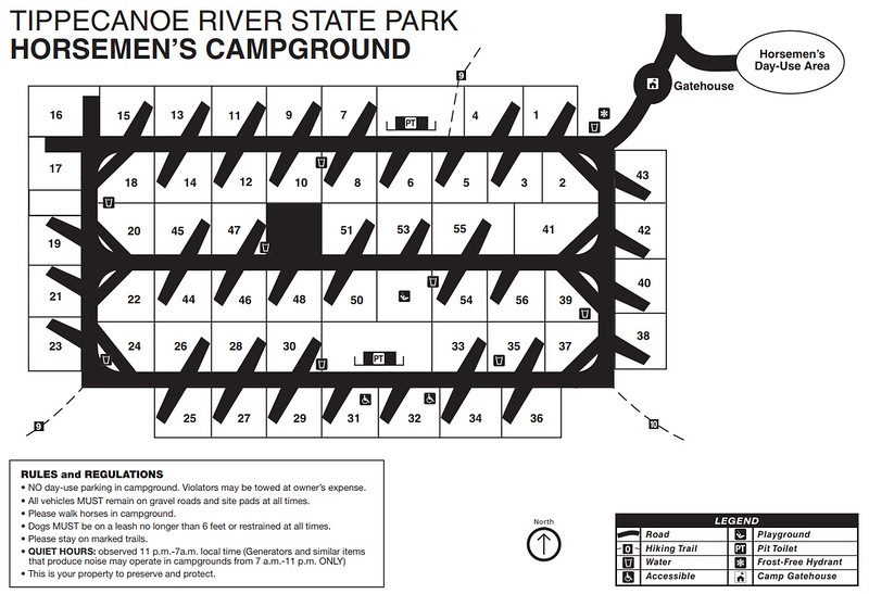 Tippecanoe River State Park (Horsemen's Campground)