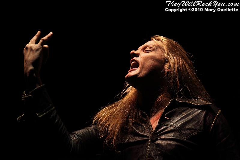 Sebastian Bach performing at The Palladium in Worcester, MA on February 5, 2010