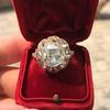 3.45ctw Antique Rose Cut Cluster Ring 11