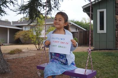 Kaitlin starts first grade