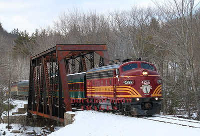 "Conway Scenic Railroad ""Covered Wagon in the Snow"""
