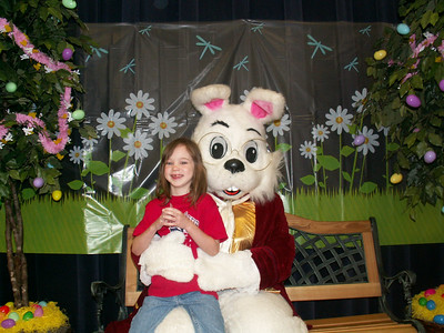 Tiff & Easter Bunny @ School 4/5/07