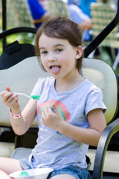 Kit eating John Deere ice cream