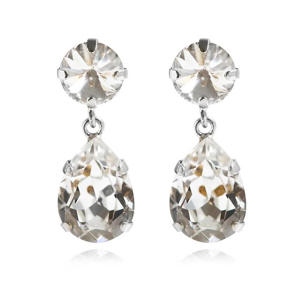 Classic Drop Earrings / Crystal Rhodium