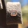 .52ctw Asscher Cut Diamond Bezel Stud Earrings, 18kt Rose Gold 23