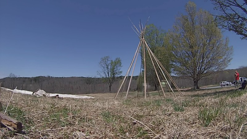 Teepee Construction Time Lapse