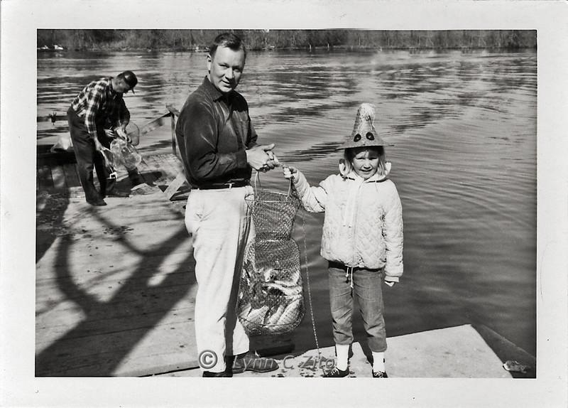 DAD & LYNN  WEBERS LANDNG APRIL 21, 1961