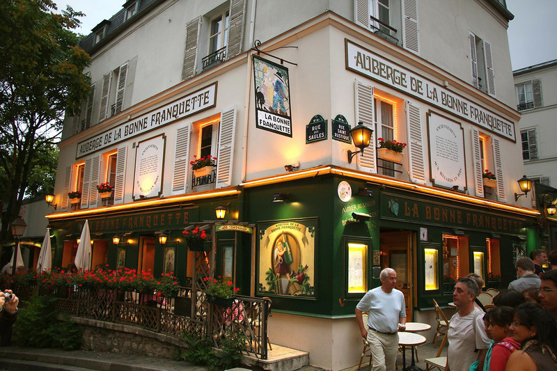 We ate in this restaurant in Montmartre, under suggestion of our travel guide. It was good advice.