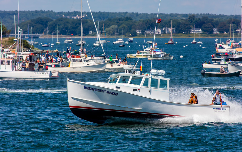 Lobster Boat Races.  Portland, Maine. 8/21/16