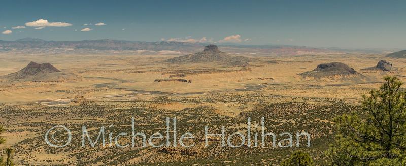 Cabezon Peak from the San Ignacio Wilderness Study Area, New Mexico.