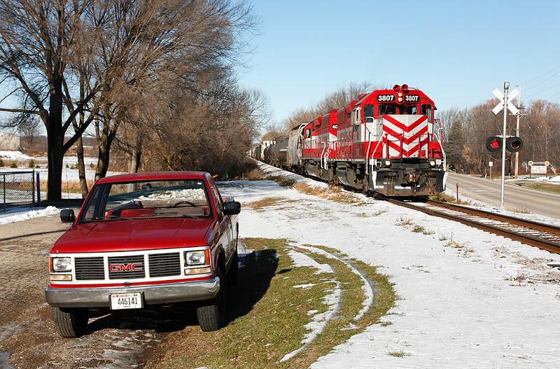 Wisconsin & Southern 3807 (EMD GP38AC) - Richfield, WI