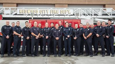 Redwood City Fire - B Shift Photo, Dec 2016