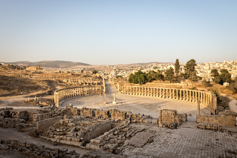 Visit the ruins at Jerash on a trip to Jordan.