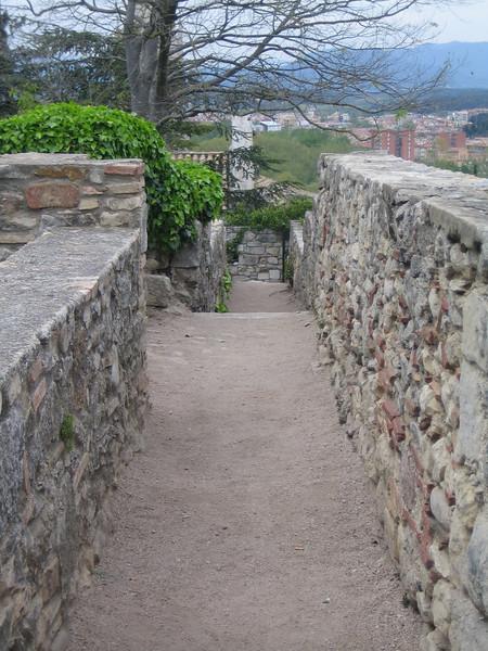 Ancient Roman walls in Girona.