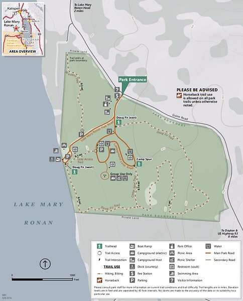 Lake Mary Ronan State Park (Trail Map)