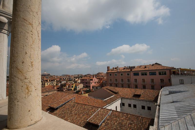 View of Venetian rooftops.