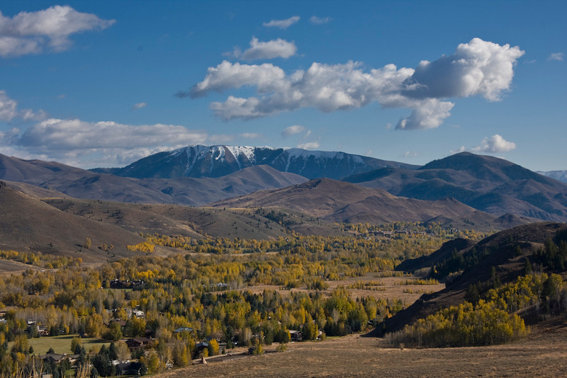 Falls snows atop Mindbender Ridge above a sea of yellow aspens from the Three Hills Trail on October 22nd.