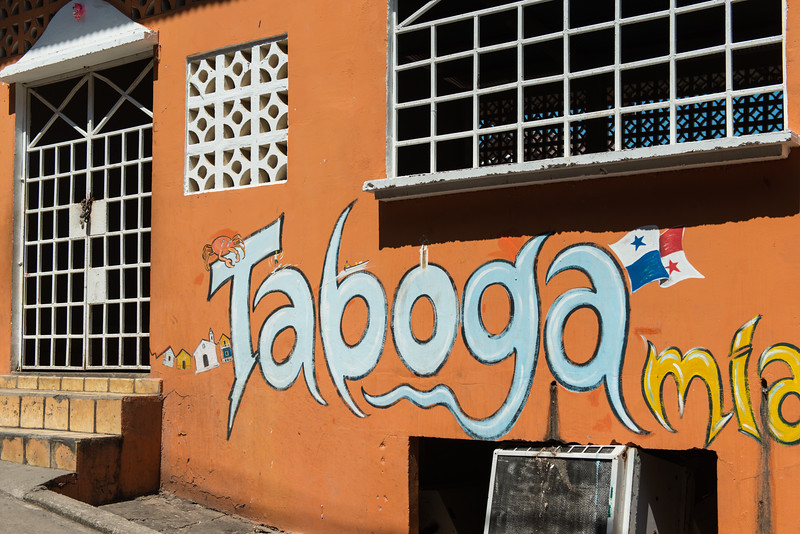 Village of Taboga, Panama. Many walls were decorated with art.