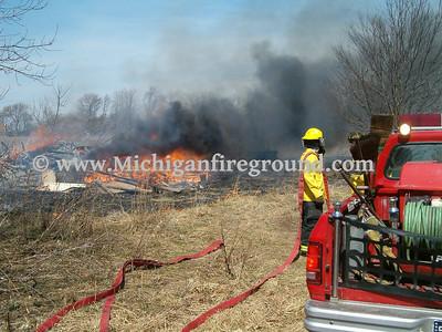 4/5/05 - Mason field fire, 3928 Barnes Rd