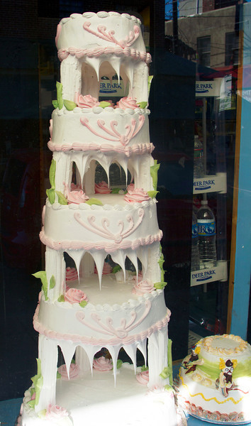 Wedding cake in Philadelphia's Italian Market