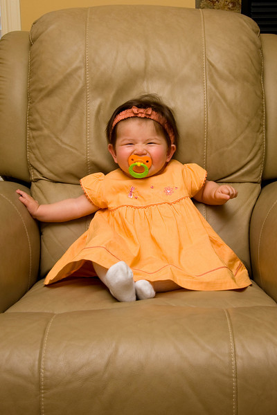 Orange outfit (234 days old)