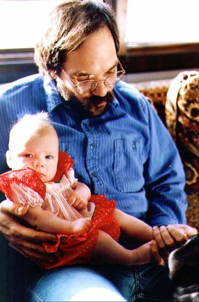 Alina & Dave, Playin Footsie, 1993,.jpg