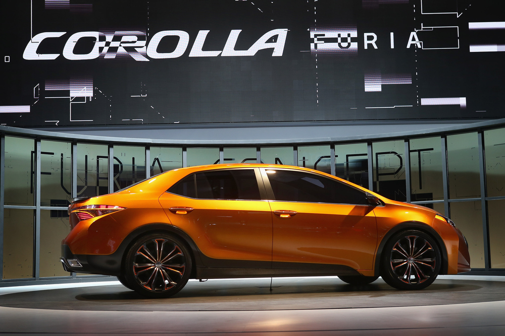 . Toyota introduces the Corolla Furia Concept car at the North American International Auto Show on January 14, 2013 in Detroit, Michigan. The auto show will be open to the public January 19-27.  (Photo by Scott Olson/Getty Images)
