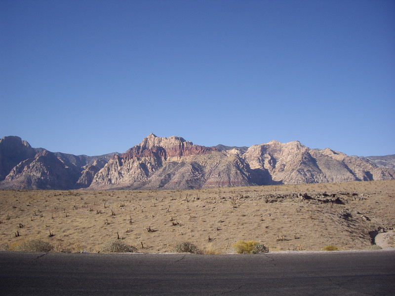 Looking across the canyon to the Rainbow Wall (far left)