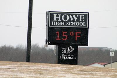 Snow in Howe, 2/14/2021