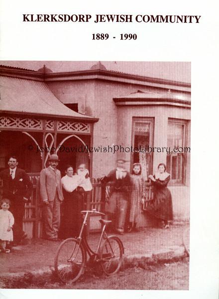 SOUTH AFRICA, North West, Klerksdorp. Klerksdorp Jewish Community 1889~1990 commemorative brochure (2.2013)