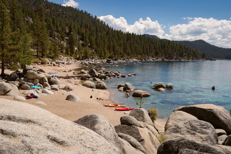 Chimney Beach at Lake Tahoe