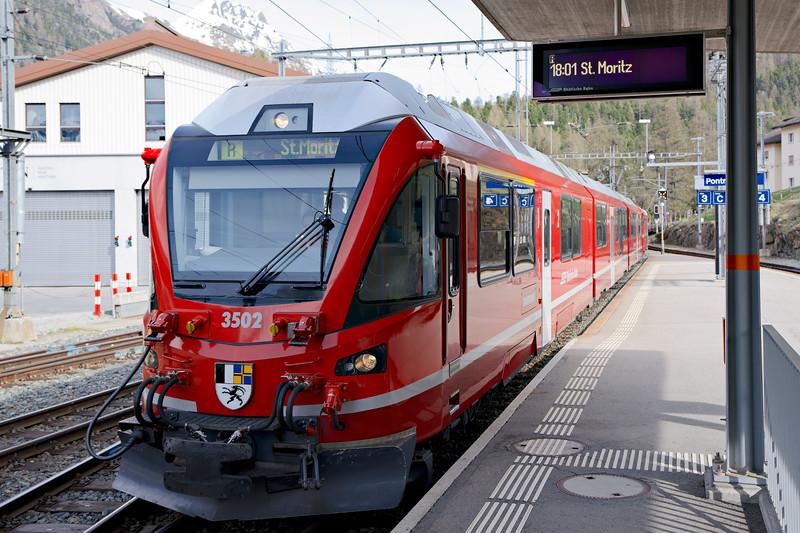 Glacier Express in St Moritz