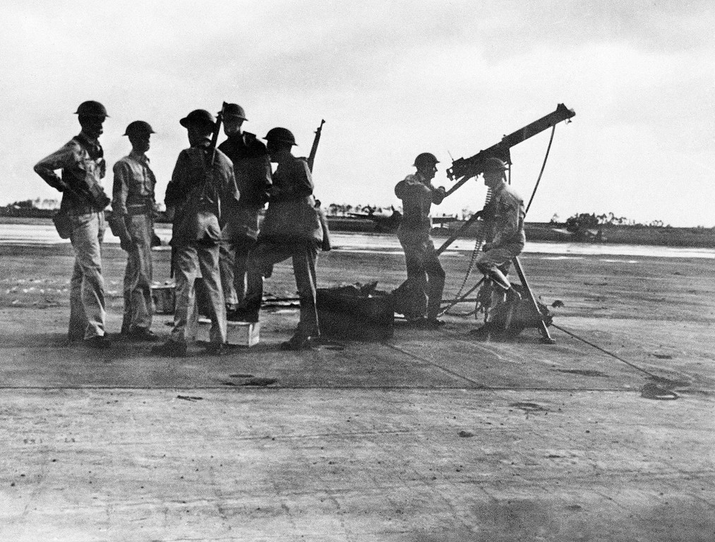 . Anti-aircraft gunners of the United States Army who fired on the Japanese planes during the surprise attack on Pearl Harbor on Dec. 7, 1941, in Wheeler Field, Hawaii. (AP Photo)