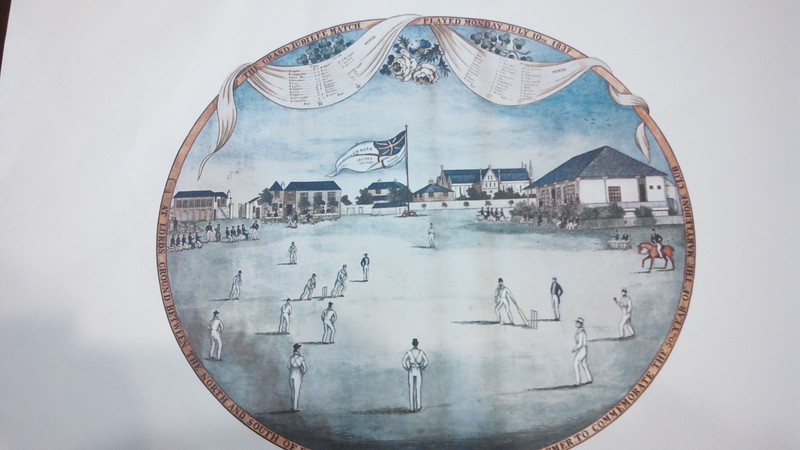 Lords 1837 Jubilee Match Painting
