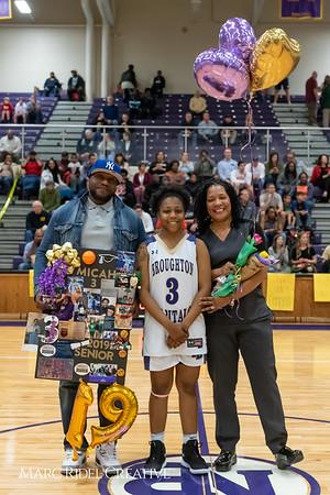 Broughton basketball senior night and Coach Farrell appreciation. February 15, 2019. 750_7414