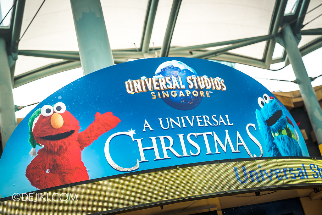 Universal Studios Singapore Park Update November 2017 - A Universal Christmas
